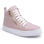 Sneaker Feminino Rose Botinha De Academia Cano Longo