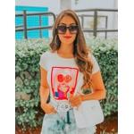 Bolsa Feminina Transversal Quadrada Branca Com Abertura em Zíper BQ3D
