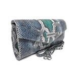 Bolsa Clutch Serpente Mar Cobra Feminina Alça Removivel