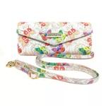 Bolsa Clutch Borboleta Branca Feminina Exclusiva Transversal