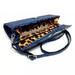 Bolsa Clutch Matelassê Feminina Pequena Transversal Azul