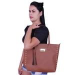 Kit 3 Bolsas Feminina Café Sacola De Ombro Transversal Grande Forrada Em Vermelho + Bolsa Saco + Carteira Necessaire