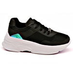 Tênis Dad Sneaker Feminino Preto Buffalo Casual Tckn02-mar