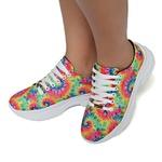 Tênis Chunky Feminino Casual Tie Dye Sneaker Gugi Arco Íris