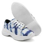 Tênis Chunky Feminino Casual Tie Dye Sneaker Gugi Calçados Azul
