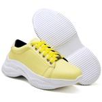 Tênis Chunky Feminino Casual Neon Sneaker Gugi Calçados Amarelo
