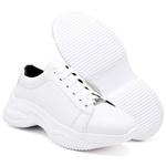 Tênis Chunky Feminino Casual Neon Sneaker Gugi Calçados Branco