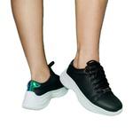 Tênis Chunky Feminino Casual Neon Sneaker Gugi Calçados Preto
