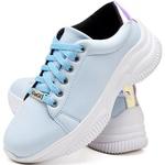 Tênis Chunky Feminino Casual Neon Sneaker Gugi Calçados Azul Água