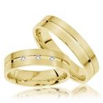 Aliança de Casamento Fosca e Polida