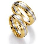 Aliança Bodas de Prata com Diamantes Princess