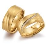 Aliança de Casamento 8,0 Milímetros com Diamantes