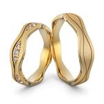 Aliança em Ouro 18K personalizada com Diamantes