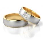 Alianças para Bodas de Prata - Ouro 18k 750