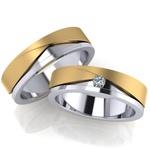 Aliança Bodas de Prata com Diamante