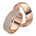 Aliança Eternity - Ouro 18k 750 - Cravejada com Diamantes