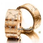 Aliança de Casamento em Ouro 18k Cravejada com Diamantes Glamour