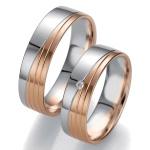 Aliança de Bodas em Ouro 18k com Diamantes