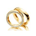 Aliança de Casamento e Noivado em Ouro 18k com Diamantes
