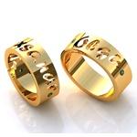 Aliança com Nome - Casamento e Noivado