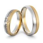 Aliança de Coração em Ouro 18k com Diamantes