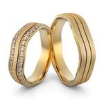 Aliança de Casamento e Noivado com Diamantes em Ouro 18k