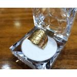 Anel em Ouro 18k Fosco Diamantado
