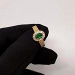 Anel de Formatura em Ouro 18k 750 Oval com Pedras