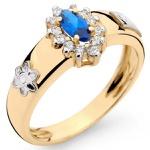 Anel de Formatura Ouro 18k com Diamantes e Pedra Navete