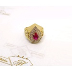 Anel de Formatura em Ouro 18k com Diamantes