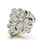 Anel Cravejado com Diamantes Paris
