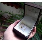 Anel Coração em Ouro Amarelo 18k com Diamantes