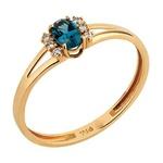Anel em Ouro Amarelo 18k Topázio com Diamantes