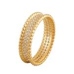 Anel em Ouro Amarelo 18k Bolinhas Centro de Diamantes