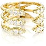 Anel 3 Aros Aberto c/ Diamantes