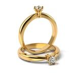 Solitário Ouro 18k Chuveiro com Diamante