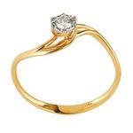 Solitário Ouro Amarelo 18k - com Diamante
