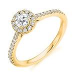 Anel Com Diamantes Aro Cravejado Ouro Amarelo