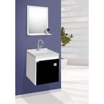 Gabinete p/ banheiro suspenso Uno preto - Fabribam