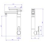 Misturador monocomando de mesa com filtro Twin – Deca