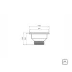 Válvula para Pia e Tanque 3.1/2 - Tramontina