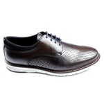Sapato Derby Casual Bruges em Couro Brown - STN019