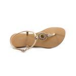 Sandália Ouro Light com Bordado