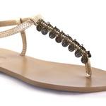 Sandália Ouro Light com Pingentes