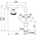 Misturador Monocomando Franke Alto Brilho Active Plus - 15135