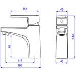 Monocomando Deca de Mesa Bica Baixa para Lavatório Level Mix Cromado - 2875.C28