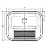 Tanque Monobloco Polido 55x45cm - 11468