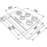 Fogão Mesa Glass 5 Bocas Gás FHG 755 4G LTC FC 75x52 cm - 14638