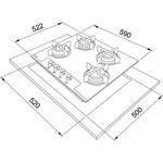 Fogão Mesa Glass 4 Bocas Gás FHG 604 4G FC 59x5cm - 16073