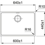 Cuba Linea 60 Fex 110-60 60X40cmm - 16661